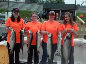 Lake Ontario Lake Trout Fishing Charters with Lakers and a king