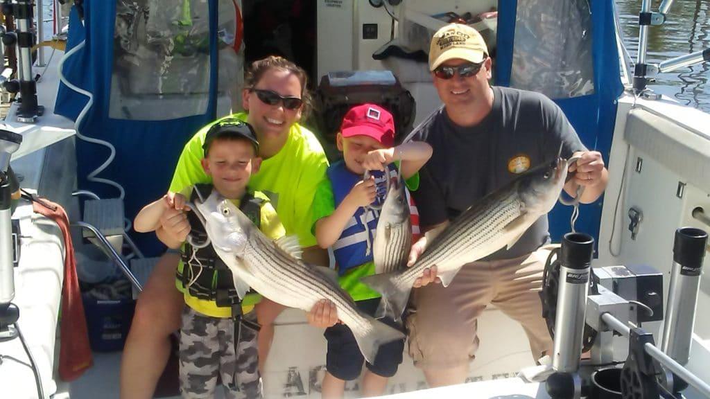 striper fishing family fun