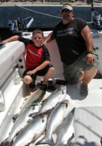 Preparing for your fishing charter with Colby Brown with His Grandfather